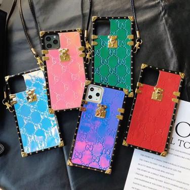 キラキラ輝くトランク型 グッチ iphone13/13pro/13mini/13pro maxケース ストラップ付き ファッション アイフォン12/12pro/12mini/12pro maxフルーカバー おしゃれ 女性 レディース