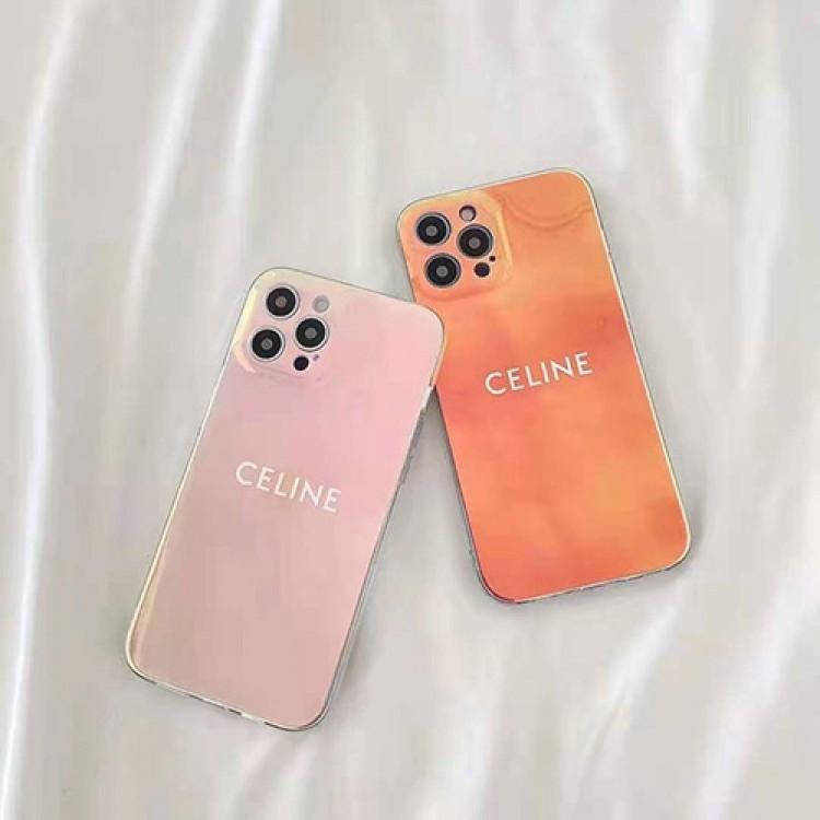 Iphone13/12S Pro Maxブランドケース セリーヌ 透明 光沢 キラキラ アイフォン13pro/12Spro Max携帯カバー ジャケット型 レディース Celine IPhone12/12 Proフルーカバー