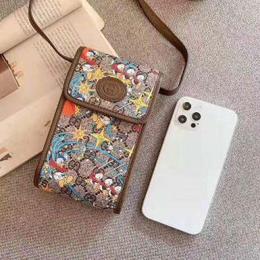 グッチ ブランドiphone 12/12 mini/12 pro/12 pro maxケース 個性潮 ショルダーバッグ ストラップ付 オシャレ刺繍 カードポケット付き Galaxy s20/note10/s10/s9 plusケース シンプル xperia 1 II/10 IIケース ファッション huawei mate 30/p40/mate 20 proケース ジャケットメンズ iphone11/11pro maxケース