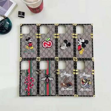 グッチ ブランドiphone12/12pro max/12 mini/12 proケース の皮革の色の絵の刺繍ケース iphone11/11pro/11 pro maxケース男女兼用人気 iphone xr/xs maxケース韓国風