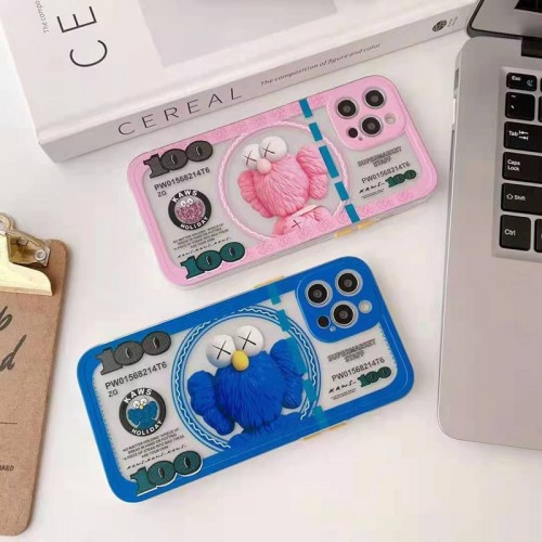 KAWS iphone12 mini/12 pro maxケースハイブランドiphone13/12/11/xs/xr/8/7ケース メンズレディース可愛いブランド風パロディケースバッグ型