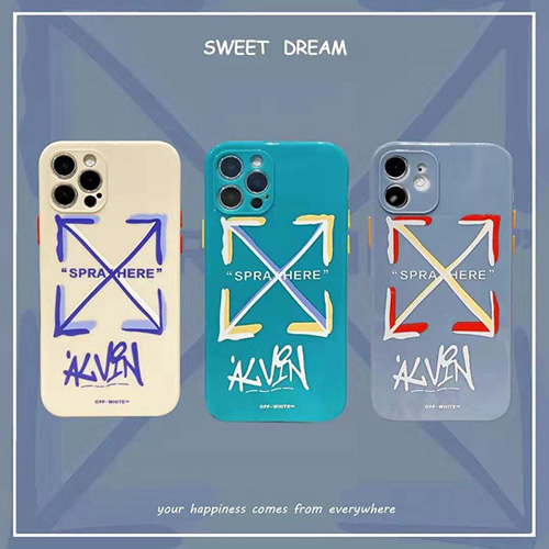 オフ-ホワイト ブランド iphone12/12pro max/se2ケース かわいいペアお揃い アイフォン iphone Xr/Xs Max/Xs/11proケースLINEで簡単にご注文可シンプルブランド個性潮流iphone x/8/7 plusケース男女兼用 ファッション人気
