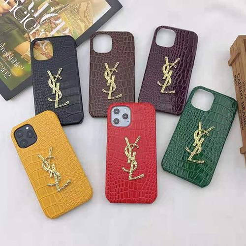 イブサンローラン ブランドワニ革iphone 12/12 pro/12 mini/12 pro maxケーススーパーコピーアイフォン 11/11pro/11pro maxケース カバーパロディ風 新品iphone 7/8 plusケース