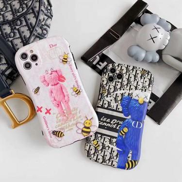 Dior ディオール iphone 7/8 plus/se2ケースほぼ全機種対応 iphone x/xr/xs/xs maxケース韓国風激安Kaws iphone 11 アイフォン 11 pro maxケースジャケットスマホケース コピー
