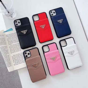 1Pradaプラダiphone 12/12 pro max/12 mini/12 proケースiphone 7/8/se2ケースカード入れスタンド機能ありカバーiphone11/11 pro max /11 proジャケットスマホケース コピー