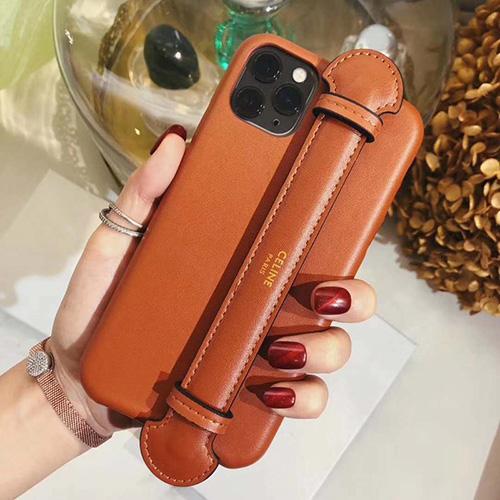 celine iphone 12 mini/12 pro/12 max/12 proペアお揃い アイフォン11ケース iphone xs/x/8/7/se2ケース ビジネス ストラップ付きレディース アイフォンiphone xs/11/8 plusケース おまけつき