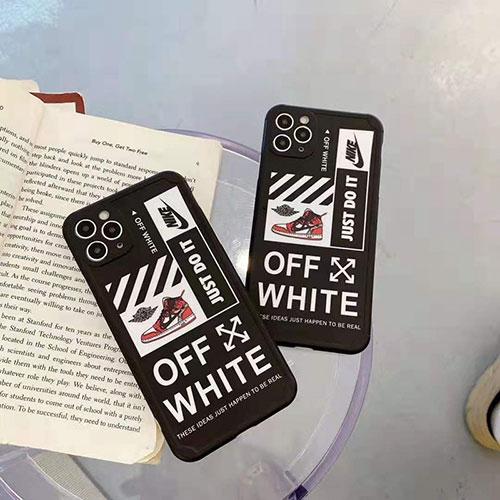 オフ-ホワイト激安iphone 12/12 pro/12 pro max/12 miniケースナイキiphone 7/8/se2ケースカバーセレブ愛用全機種対応ハイブランドケース パロディ