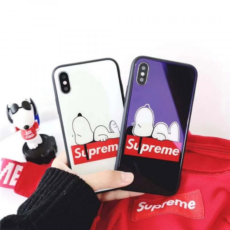 supreme snoopyコラボxperia 1/10iii galaxy s21/s21+ ultraケースガラス鏡面ブランドカバーiphone12/13/11 pro maxケース激安コピーハイブランドチェーンつき
