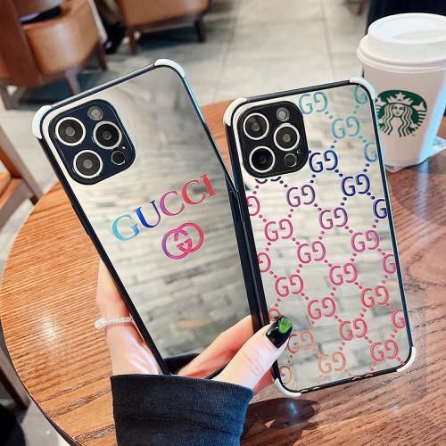 光沢があるグッチ鏡面ケース ブランド iphone13/13mini/13pro/13pro maxフルーカバー Gucci iPhone12/12mini/12pro/12pro maxスマホケース 男女兼用 ファッション アイフォン11/11pro maxケース
