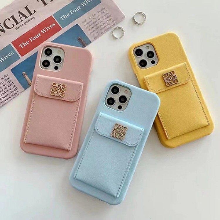 高品質 革製 LOEWE/ロエベ iPhone13miniレザーケース iphone13proフルーカバー 純正 10色 上品 綺麗 アイフォン12/12pro maxスマホケース 女性レディース向け カードポケット スタンド機能