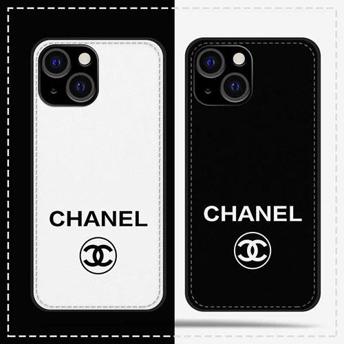 シンプルスタイル 革製 黒白 シャネル iPhone13/13 pro maxレザーケース 男女兼用 ファッション 綺麗 IPHONE12/12proケース フルーカバー センスがある IPHONE11/11pro maxフルーカバー